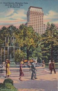 Court Square Showing Sterick Building In Background Memphis Tennessee