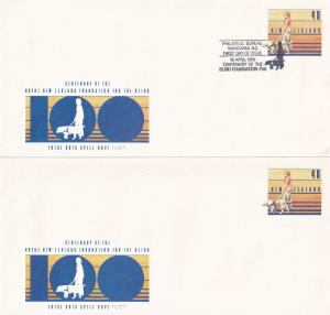 Blind Foundation Wanganui New Zealand 2x First Day Cover s