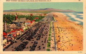 California San Francisco Great Highway and Beach Esplanade