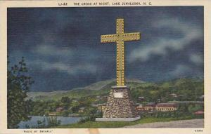 The Cross at Night, Lake Junaluska, North Carolina, PU-1958