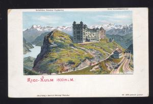 1900 RIGI KULM GERMANY ANTIQUE VINTAGE POSTCARD