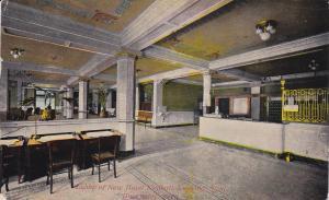 Lobby of New Hotel Kimball, Looking West, Davenport, Iowa 1912 PU