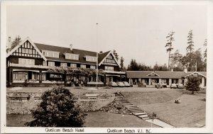 Qualicum Beach Hotel Vancouver Island BC Unused Real Photo Postcard E66