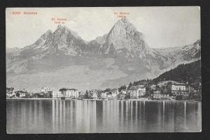 Mythen Mts Brunnen Switzerland Unused c1911