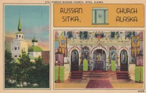 SITKA, Alaska, 1945; Famous Russian Church
