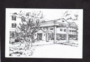 MA Williams Inn Hotel College Williamstown Mass Massachusetts Postcard Sketch PC