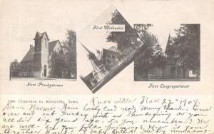 Knoxville Iowa~Multi Mini Vw~Churches~Presbyterian~Methodist~Congregational~1907