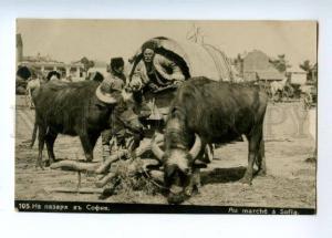 173305 BULGARIA SOFIA market carriage Vintage photo postcard