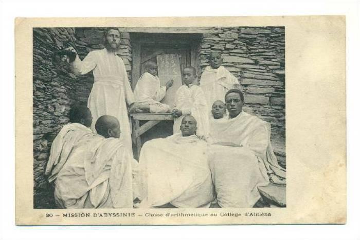 Mission de Abyssinie - Class d'arthmetique au College d'Alitiena, 00-10s ETHI...