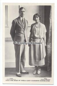 r2028 - Duke of York & Elizabeth Bowes-Lyon ( became KGVI & QE ) - postcard