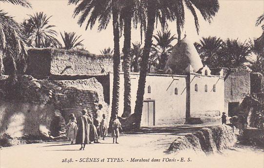 Scenes et Types, Marabout dans l'Oasis, Arab, 00-10s