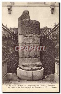 Old Postcard Le Mont Dore The Etablissement Thermal The interior column of me...