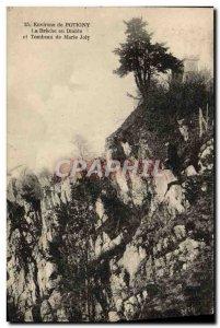 Old Postcard surroundings Potigny La breche the devil and tomb Marie Joly