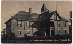 Pittsfield, Maine, Early View of The Lancey Street Grammar School