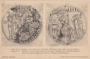 Guthlac Of Croyland Gates Of Hell St Bartholomew Painting Old Museum Postcard