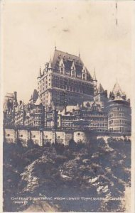 Canada Quebec Chateau Frontenac 1930 Real Photo