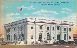 Exterior,United States Post Office and Federal Court House, Colorado Springs,...