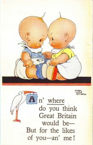 Mabel Lucie Attwell An' where do you think Great Britain would be- Postcard