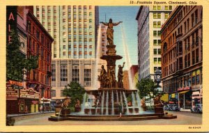 Ohio Cincinnati Fountain Square Curteich