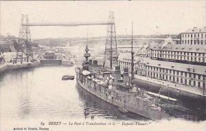 France Brest Le Pont a Transbordeur et le Dupetit-Thouars