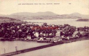 LAKE MEMPHREMAGOG FROM PINE HILL, NEWPORT, VERMONT