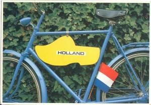 Holland, Netherlands, Bicycle & Flag, 1991 used Postcard