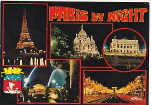France Paris At Night Multi View