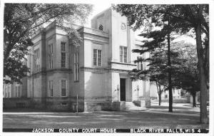 Black River Falls Wisconsin~Jackson County Court House~Art Deco~1940s RPPC