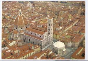 Italy Firenze Duomo Cathedral Aerial View Florence Postcard
