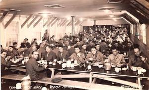 Typical Mess Hall, Camp McCoy, Wisconsin Kodak Real Photo WW II Unused
