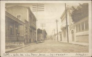 Ponce Puerto Rico Strfeet Scene c1910 USED Real Photo Postcard jrf