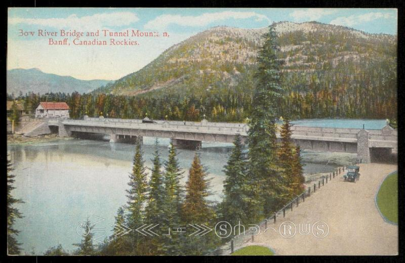 Bow River Bridge and Tunnel Mountain