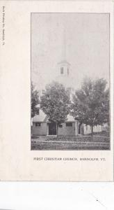Exterior, First Christian Church, Randolph, Vermont,00-10s