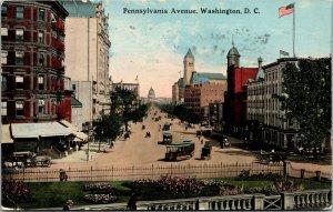Vtg 1910s Pennsylvania Avenue Washington DC Postcard