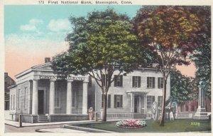 STONINGTON , Conn. , 1910s ; First National Bank