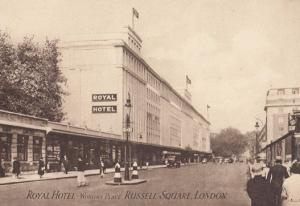 Royal Hotel Russell Square London Official Old Postcard