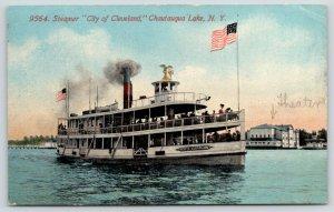 Chautauqua Lake New York~Great Lakes Steamer~City of Cleveland~Theatre~1912