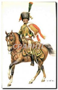 Postcard Old Empire Frankreich Chasseurs a Cheval of the Guard Leutnant Frenc...