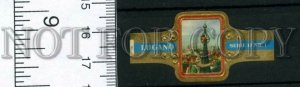 500042 SWITZERLAND LUGANO Vintage embossed cigar label
