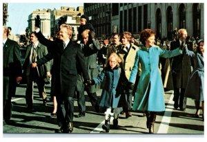Jimmy & Rosalynn Carter on Inaugural Walk 1977 Washington DC Vintage Postcard