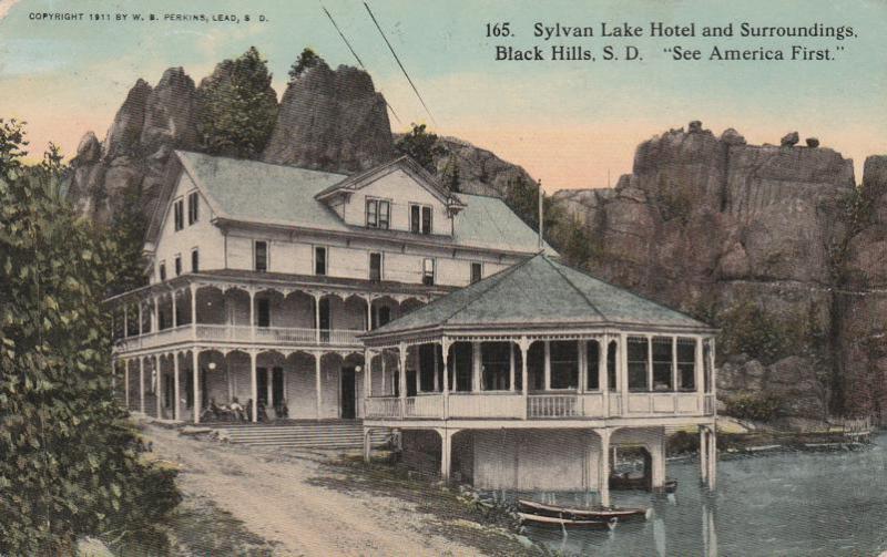 Sylvan Lake Hotel Black Hills Sd South Dakota Pm 1916 Db