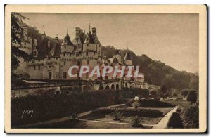 Old Postcard Chateaux of the Loire Chateau de Rigny Usse overview North East