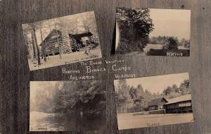 Arlington Vermont Roaring Branch Camps Real Photo Antique Postcard J56186