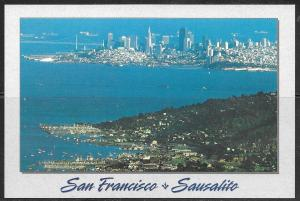 California, San Francisco and Sausalito, unused