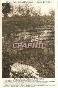 Postcard Old Padirac (Lot) Well Entree Chasm