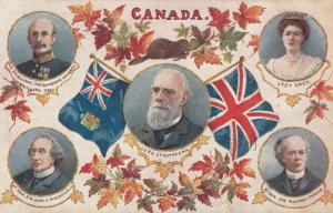 CANADA , Flags & Leaderst ; 1906 ; TUCK 2552