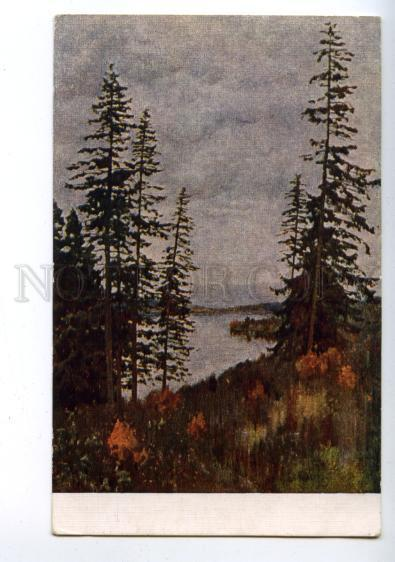 144904 RUSSIA cloudy day by LEVITAN vintage PC