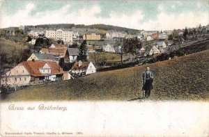 Grafenberg Germany Scenic View Gruss aus Vintage Postcard AA14334