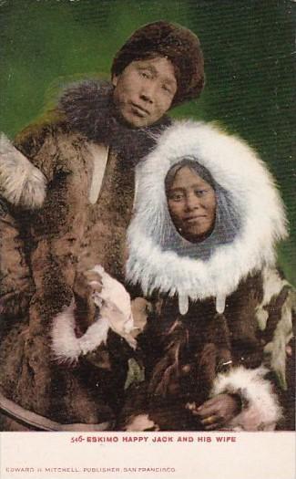Alaska Eskimo Happy Jack and His Wife