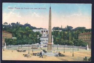 People's Plaza w/view of Pincio Rome Italy unused c1910's